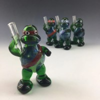 Ninja Turtle Glass Tobacco Pipe H050 by ApolloGlassworks ...