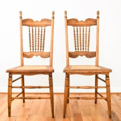 Old Wood Chairs Navy Blue Leather Chair Antique Dining Cane
