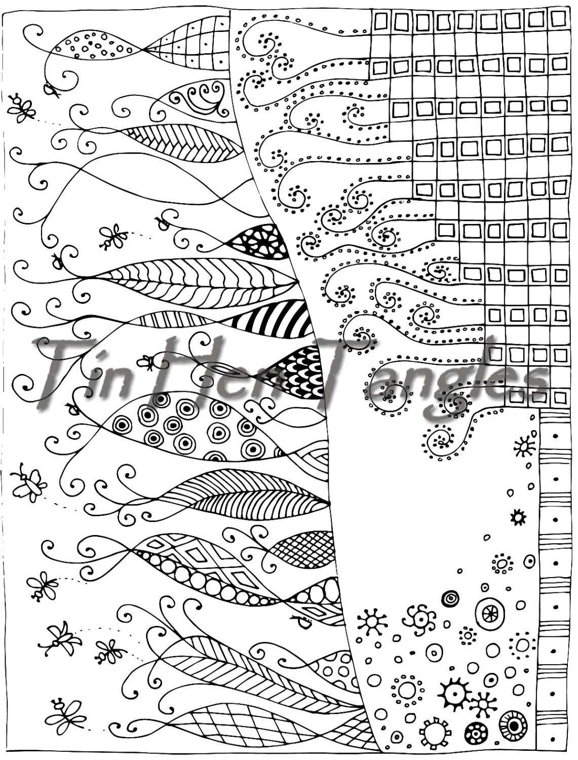 Breathe Coloring Page Quote Abstract Art Color Therapy