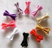 baby bow clips felt hair