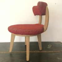 Kroehler Mini Swivel Chair Upholstered Mid Century