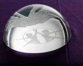Crystal Moon Paper Weight...