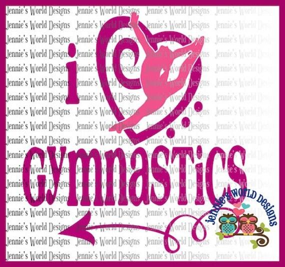 Download I love gymnastics heart arrow SVG PNG Cut File