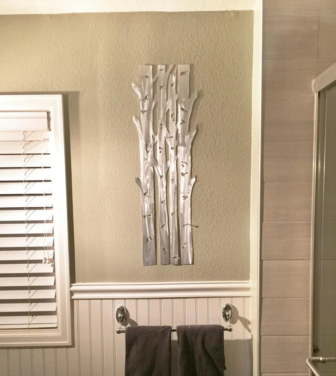 Aspen Trees Metal Wall Art, Aspen Tree Home Decor, Hand