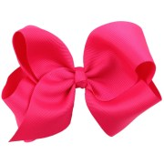 hot pink hair bow 5 big