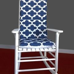 Navy Rocking Chair Chiavari Rental Miami Cushion Cover Fynn White