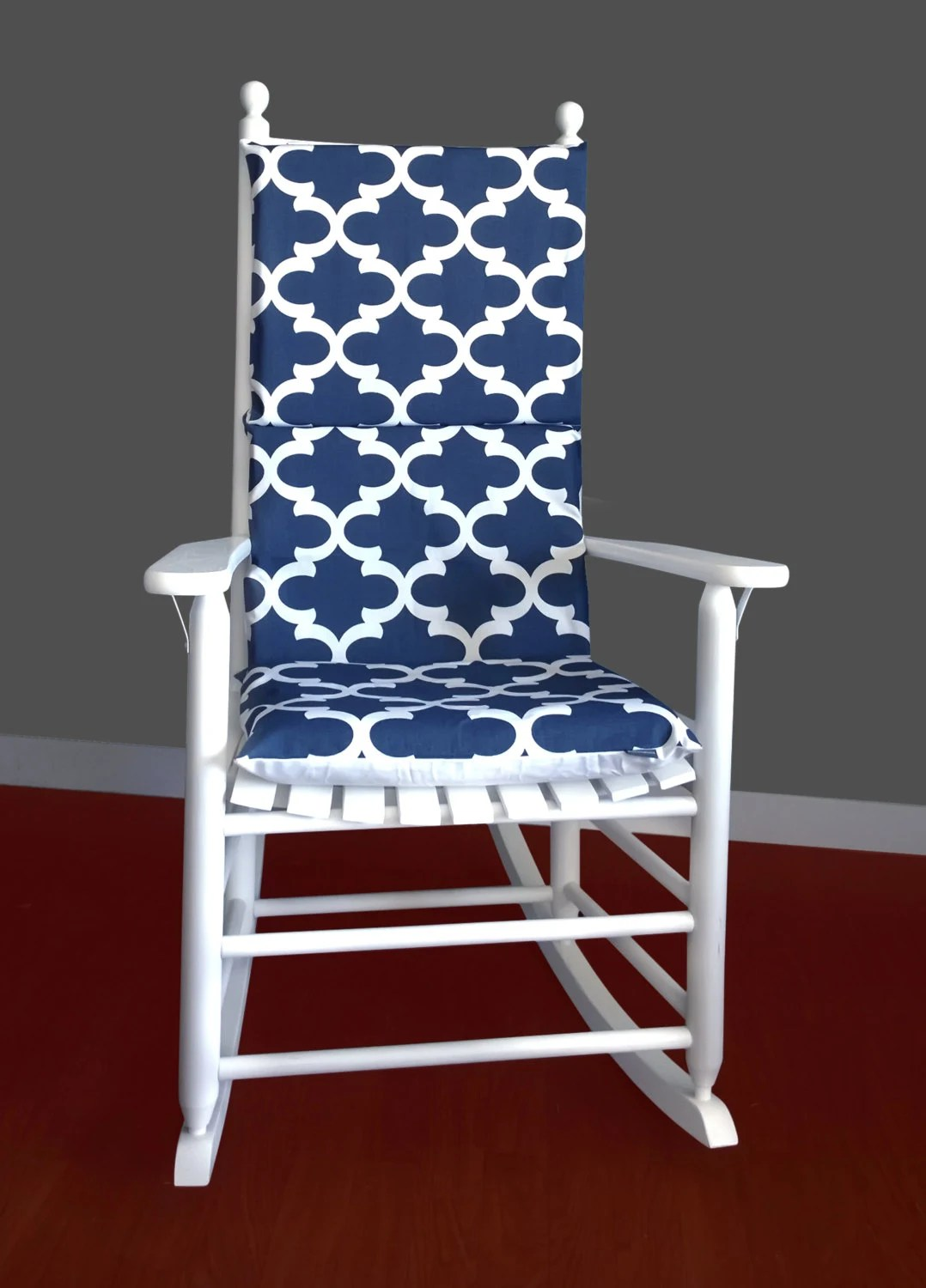 Navy Rocking Chair Rocking Chair Cushion Cover Fynn Navy White