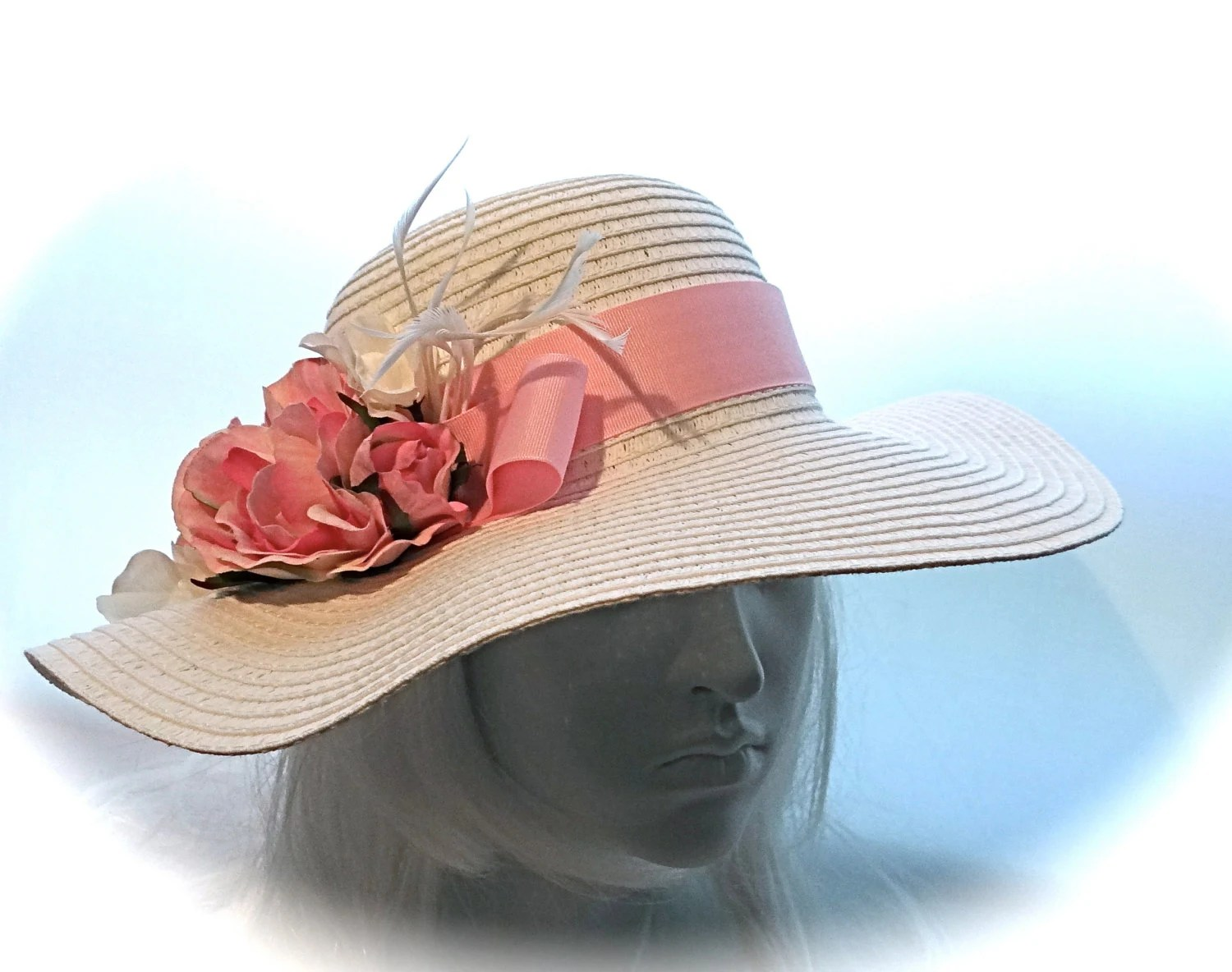 White Sun Hat Mother Of The Bride Hats Tea Party By