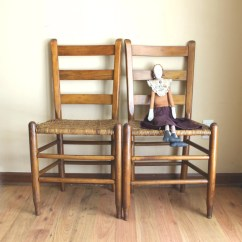 Shaker Ladder Back Chair Slipcovers For Kitchen Seats Style Pair Of Chairs Antique Slat