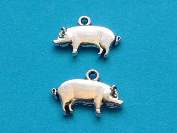 Pig Charms Silver Cs2301