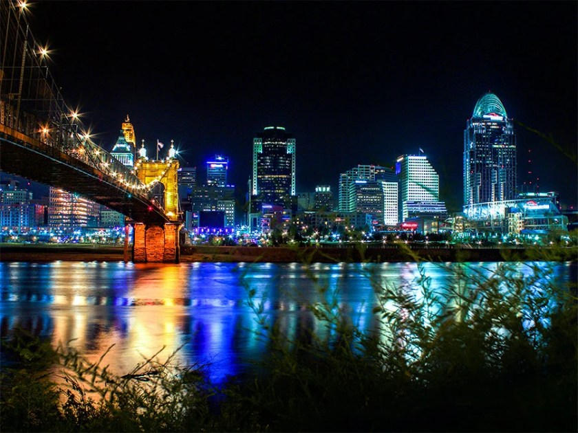 Image result for cincinnati at night
