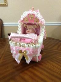 Elegant Centerpice/ Baby Shower Stroller/ Fancy Diaper