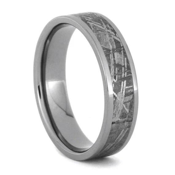 Meteorite Ring Meteorite Wedding Band Titanium By