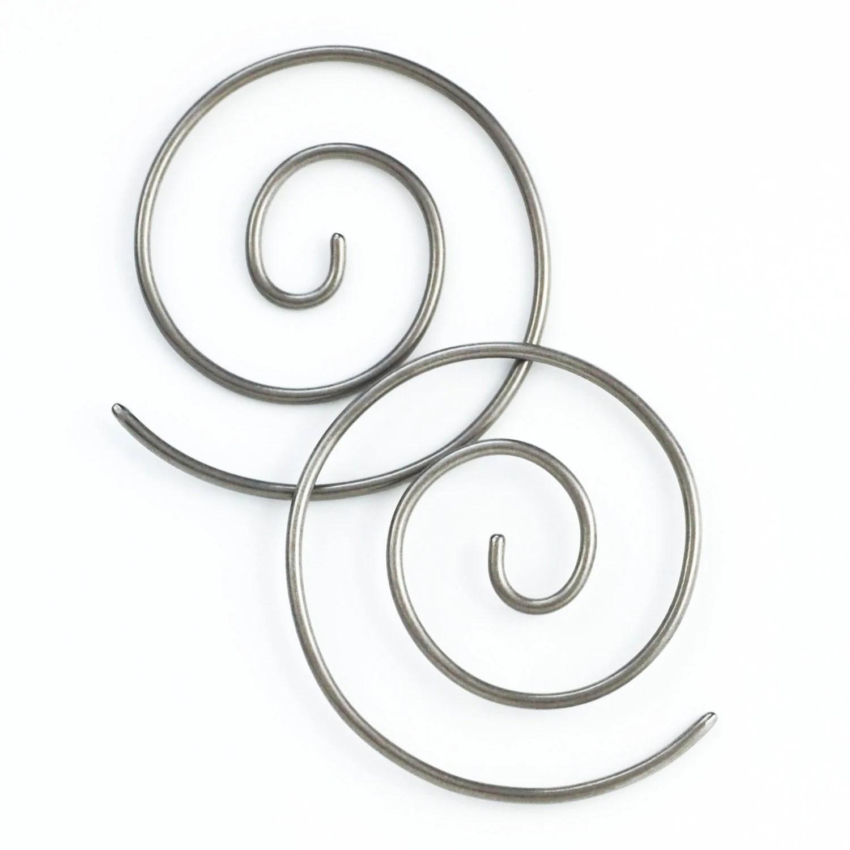 1 Pair Handmade 12 Gauge Swirls Earrings You Pick Metal