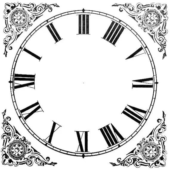 Items similar to 20 Paper Clock Faces, Vintage Ephemera