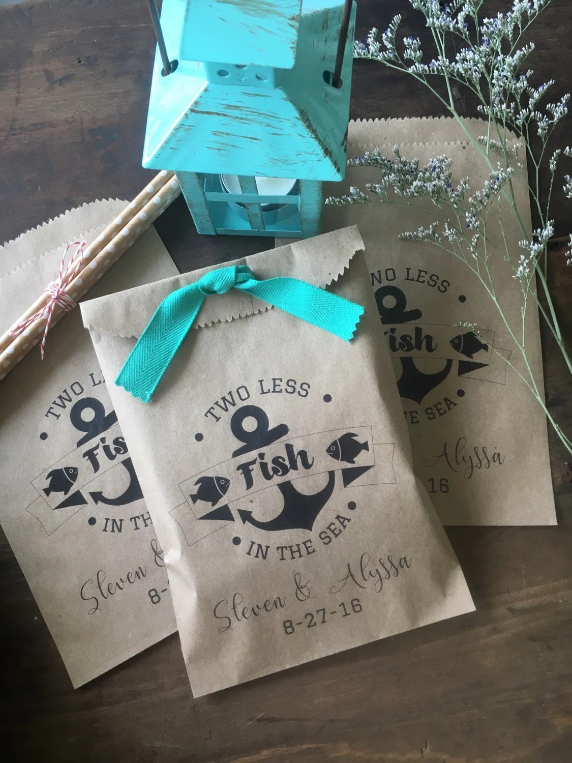 Wedding Favors Wedding Favor Bags Two Less Fish In The Sea
