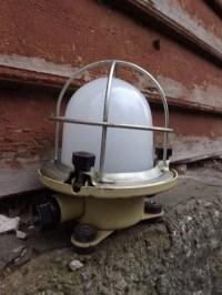 Vintage outdoor lamp Industrial task lighting by ...