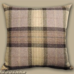 Chair Covers Scotland Mid Century Modern Office Chairs Mauve Plaid Pillow Cover Scottish Cushion Case Tweed