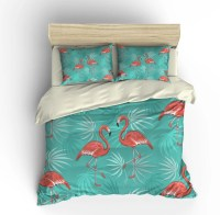 Pink Flamingo Bedding Comforter Cover Duvet Cover and