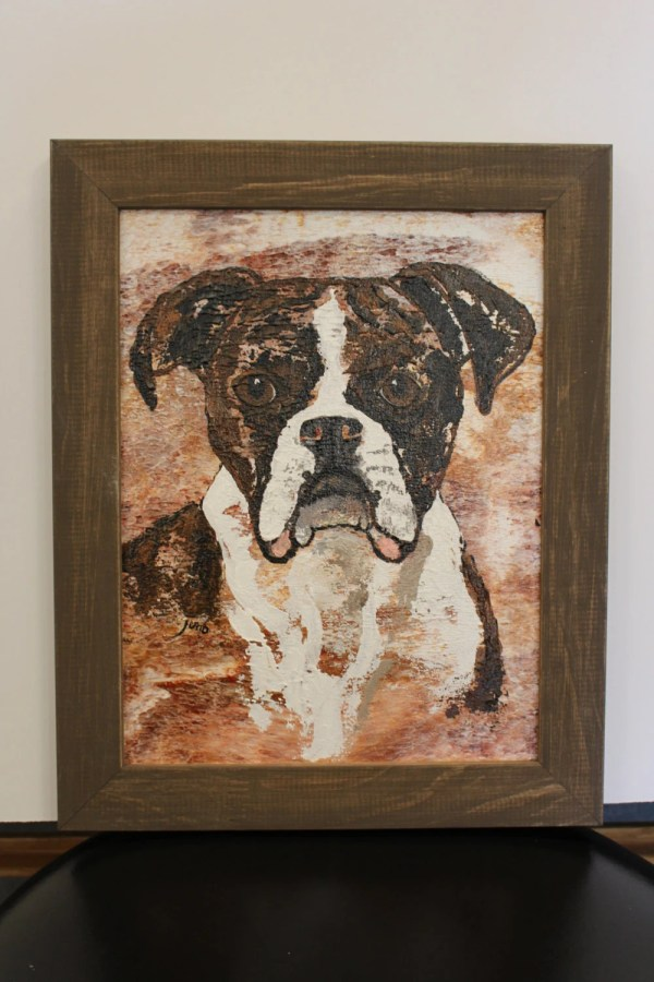 Boxer Dog Abstract Painting