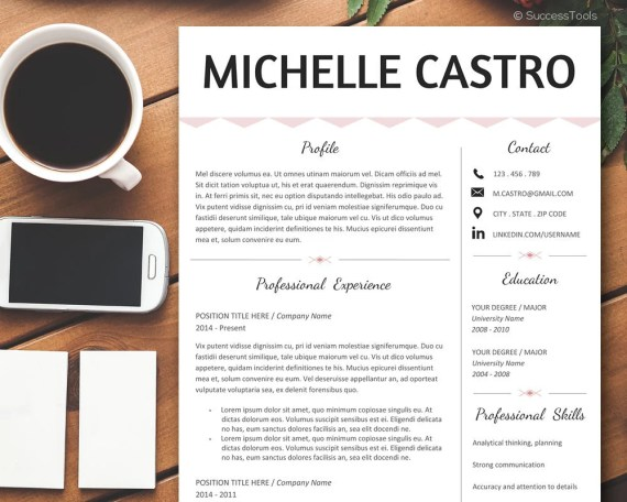 Resume Template Professional,Modern Resume Instant Download, Simple Resume, Creative Resume Template, Teacher Resume Any Profession