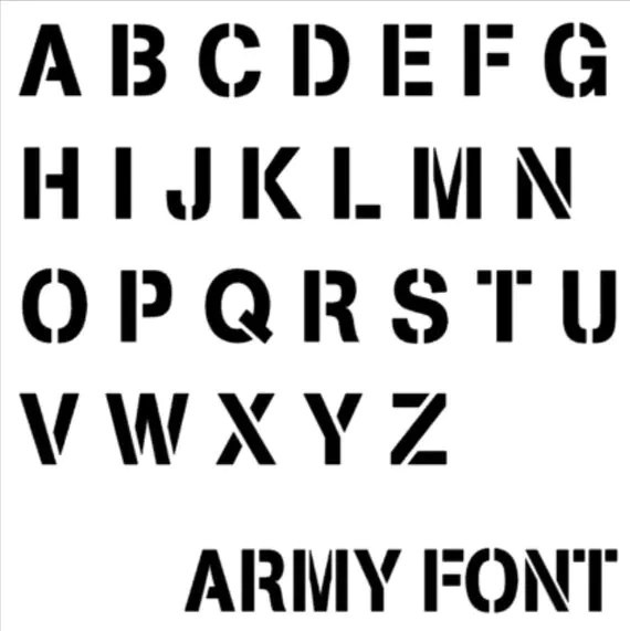 Add Pet Name Army Font MANY Font Colors Add On