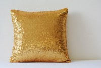Shiny 24 Ct Gold Pillow Cover Metallic Gold Cushion Cover