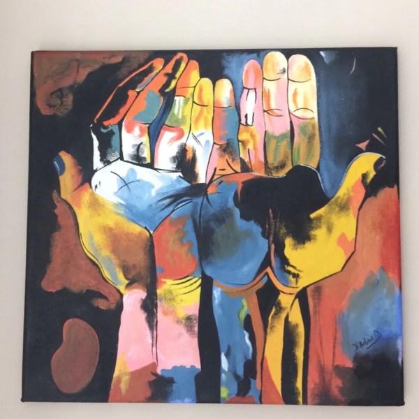 Guayasamin Diversity Hands Cubism Ecuadorian Art Acrylic