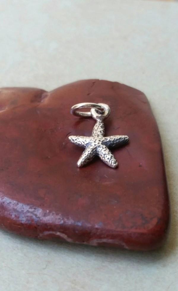 Tiny Sterling Silver Starfish Charm Bracelet