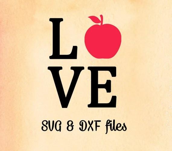 Download Love Apple SVG Cut File, School Teacher Svg, Back To ...