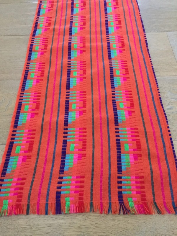 Mexican table runner reversible placemats woven by MesaChic