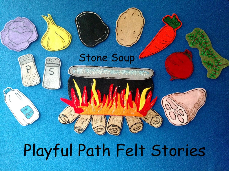 Stone Soup Felt Story Ece Preschool Circle Time Felt