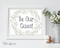 Be Our Guest, be our guest sign, guest room print, guest ...