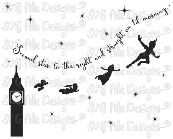 Second Star To The Right Peter Pan Disney Word by