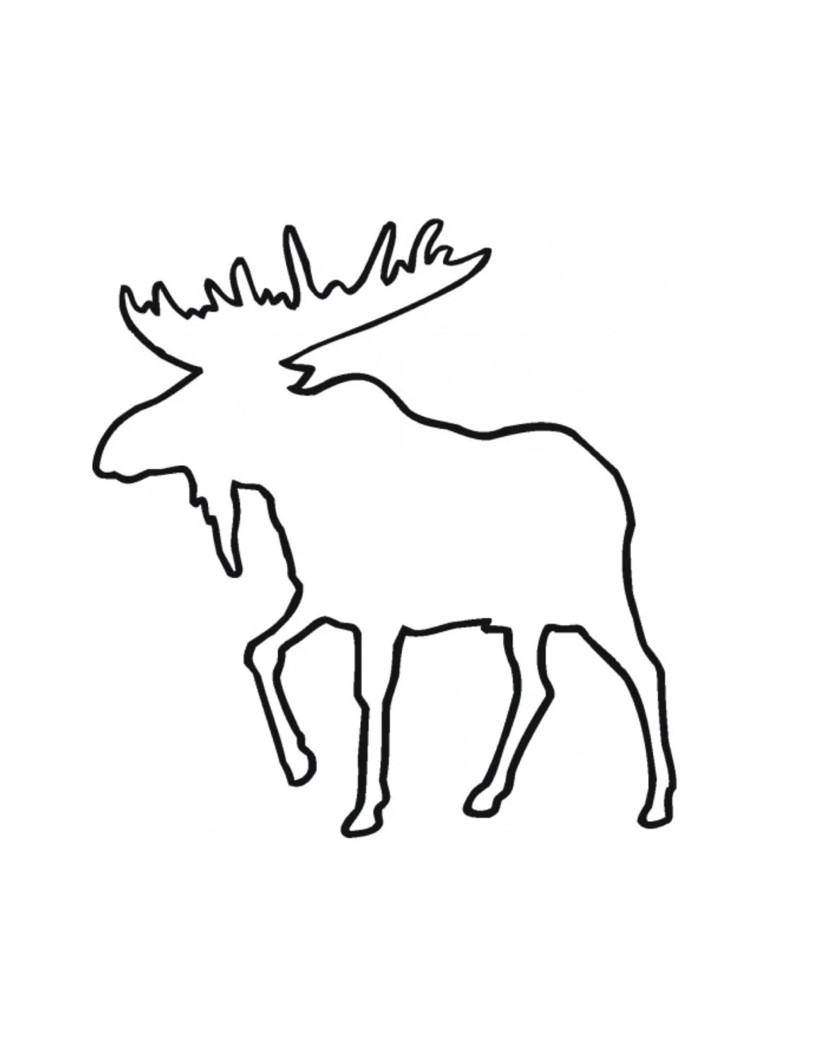 Moose Stencil Made from 4 Ply Mat Board from