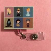 Disney Princess Villians ID Holder Badge Reel