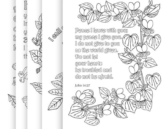 5 Bible Verse Coloring Pages Pack 5 Simple by