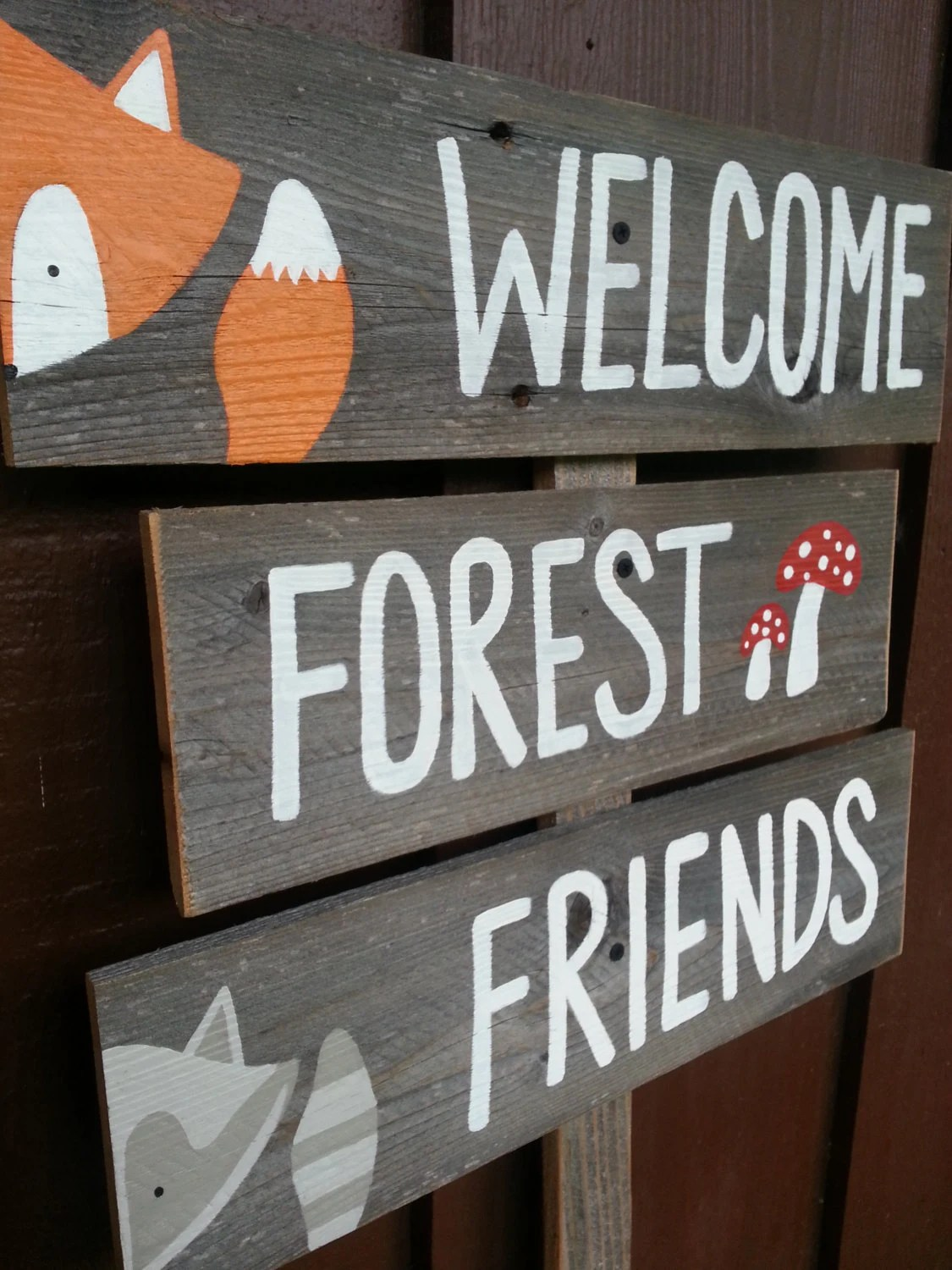 Welcome Forest Friends Sign Baby Shower Signs by BeBraveLittleOne