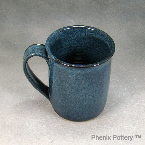Pottery Coffee Mug 14 16 Ounce Denim Blue Ceramic Coffee Mug