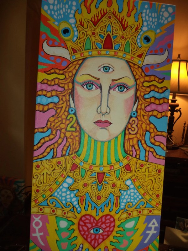 Original Art Painting Fantasy Surreal Psychedelic Woman