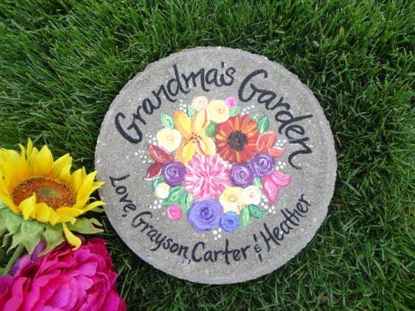 Grandma Garden Stepping Stone