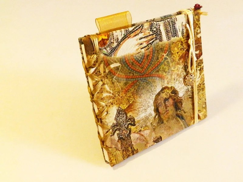 Blank book with religious theme