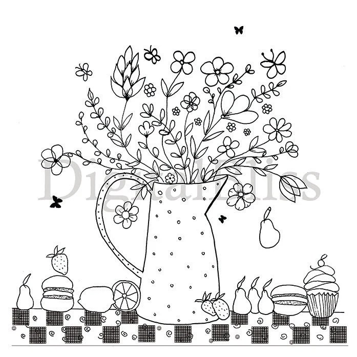 INSTANT DOWNLOAD Adult Coloring Page, Colouring Page