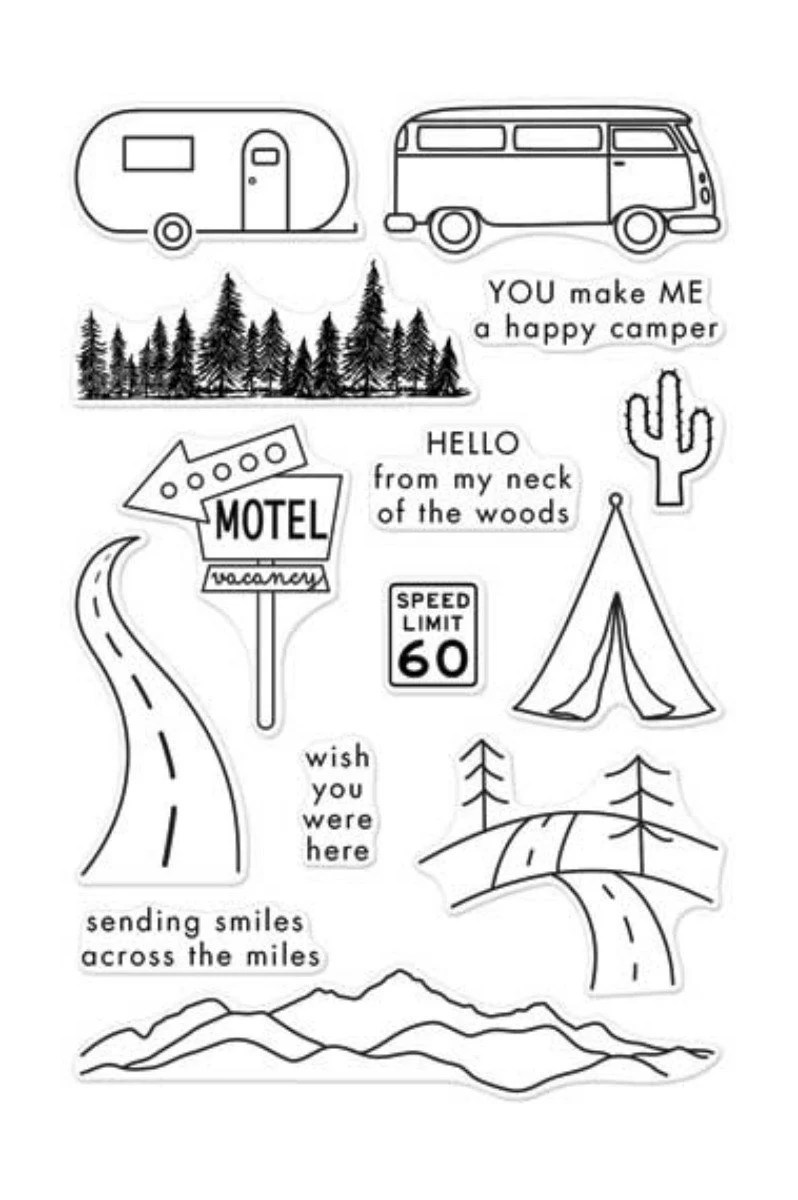 Hero Arts Road Trip CL973 Clear Stamps Travel Stamps