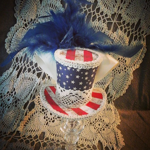 American Flag Stars And Stripes Fourth Of July Mini Top Hat