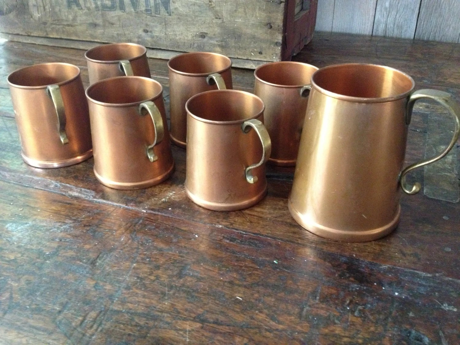 Antique English Rustic Copper Amp Brass Mug Beer Stein