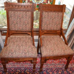 Eastlake Victorian Parlor Chairs Okin Lift Chair Parts Pair Of Antique Walnut Side Dining