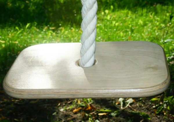 Long Rope Swing Large Seat Tree Backyard