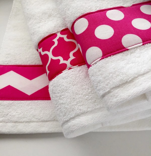 Pink Towels Hand Towel Chevron Hot Bathroom Decor