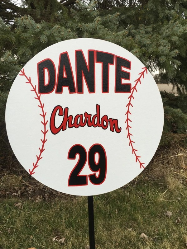 Baseball Custom Personalized Wood Sports Yard Sign. Signladybiz